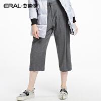 ERAL/艾莱依冬装韩版时尚女士羽绒裤中腰外穿7七分裤11008-EDAA