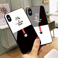 艾特猫苹果6s手机壳iphone x可爱卡通6splus日韩新款8玻璃套7p软边xs max全包硬壳7个性创意8plu