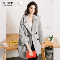 LB - 羊毛呢子大衣2018秋冬季新款韩版学生中长款茧型小个子外套加厚女