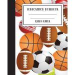 预订 Composition Notebook Graph Paper Grid Basketball America