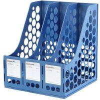 齐心资料架B2113三联文件筐文件架文件栏三格办公用品