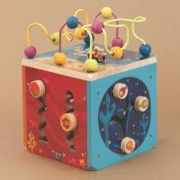比乐B.Toys动物园活动木立方迷宫串珠玩具木制绕珠多功能百宝箱