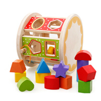 婴儿童男女孩益智玩具3-6周岁 实木多功能智力盒宝宝形状配对积木