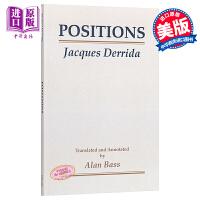雅克・德里达:多种立场 英文原版 Positions/Jacques Derrida