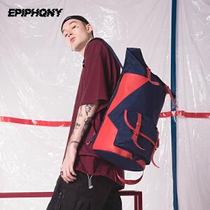 Epiphqny2018新款潮牌原创撞色旅行背包潮流生活轻休闲防水双肩包