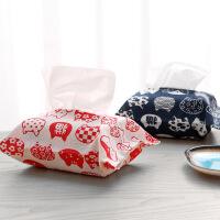 创意家居卡通布艺抽式纸巾盒 懒人车载纸巾套 时尚纸巾包