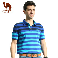 camel骆驼男装 短袖t恤  夏装男士棉条纹休闲翻领韩版大码polo衫 潮