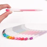 新款日本MUJI无印良品文具按动签字笔0.5MM磨砂喷胶中性按动水笔