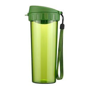特百惠水杯500ml 茶韵随手杯便携塑料杯子运动水壶学生儿童杯茶杯青苔绿