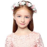 头箍时尚简约儿童头饰甜美花朵头饰头花发箍儿童婚纱配饰演出花朵头箍