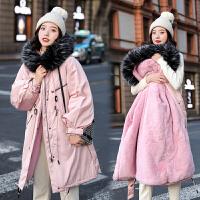 冬季新款大毛领显瘦宽松棉袄时尚加厚外套孕妇冬装棉衣