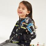 【3件2.5折后到手价:142.3元】马拉丁童装女童外套春装2018新款主题印花拉链外套