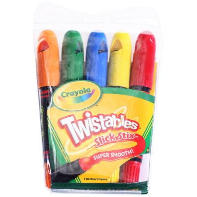 Crayola 绘儿乐 5色可拧转大蜡笔 52-9505【当当自营】美国进口儿童绘画品牌 5种明亮的色彩 超级顺滑 绘本绘画用蜡笔