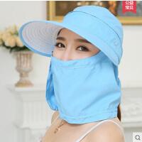 韩版骑车遮阳帽 帽子女 电动车防紫外线防晒帽大沿太阳帽遮脸帽