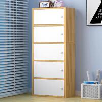 亿家达简易书架落地置物架组合简约现代书橱多格柜储物柜学生书柜
