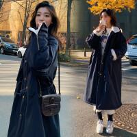 韩版宽松冬季中长款棉袄孕妇加绒加厚款棉衣羊羔毛外套