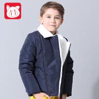 小猪班纳童装男童棉衣外套新款儿童棉服男冬季加厚中大童棉袄