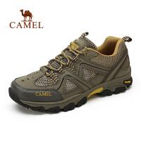 camel骆驼户外登山鞋 男女情侣款 休闲网布透气运动徒步鞋