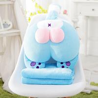 韩国猫蛋蛋抱枕被子两用午休睡枕头办公室宿舍汽车靠垫珊瑚绒被1