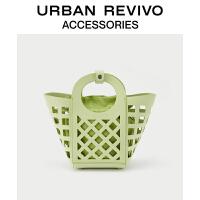 URBAN REVIVO2021春夏新品女士配件清新镂空手提包AY16TB1N2002