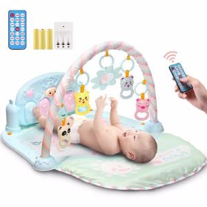 【满159减80】活石 音乐健身架脚踏钢琴婴儿床铃玩具0-1岁宝宝儿童玩具 升级精灵款【充电套装】