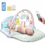 活石 音乐健身架脚踏钢琴婴儿床铃玩具0-1岁宝宝儿童玩具 升级精灵款【遥控器+充电套装】