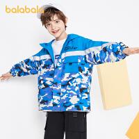【券后预估价:209.9】巴拉巴拉男童外套儿童秋装2021新款童装中大童冲锋衣两件套时尚潮