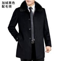 ??中年羊毛大衣男 中长款中老年爸爸毛呢大衣 加绒加厚男士风衣外套312