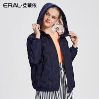 ERAL/艾莱依2017秋冬新款双面穿短款羽绒服女轻薄外套12172-FDAC