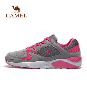 camel骆驼女款休闲跑鞋 女款系带低帮减震轻量跑步鞋