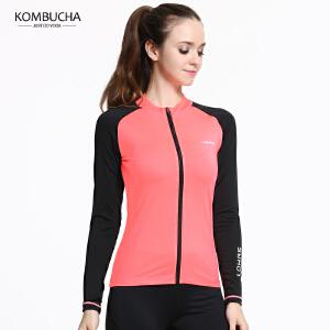 【限时特惠】Kombucha瑜伽健身外套2018新款女士LOHAS系列弹力修身跑步健身无帽拉链开衫外套K0160