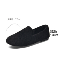 2019珂卡芙新款【仙女风】时尚甜美短毛女单鞋舒适百搭女鞋