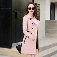 新女士外套秋新品中长款风衣女2018女装韩版大码修身收腰春款女外套