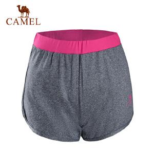 camel骆驼运动瑜伽裤 女款针织透气瑜伽运动健身短裤