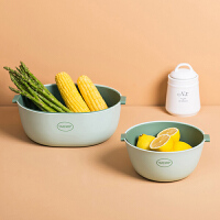 沥水篮 北欧简约洗菜盆沥水篮洗水果洗菜神器菜篮家用厨房现代客厅创意托盘