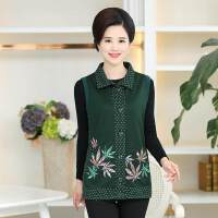 春装新款中老年30-45岁女装拼色马甲女式外套风衣中年妈妈装外套