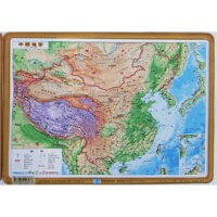 凹凸地图 凹凸立体地理 中国地形图 22x30cm
