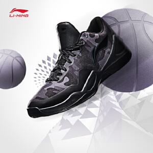 李宁篮球鞋男鞋篮球系列耐磨防滑支撑战靴反光运动鞋ABPM033
