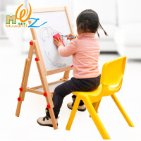 木丸子精品工艺支架式升降磁性双面超大画板儿童学习益智玩具