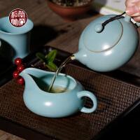 梅兰竹菊 富贵茶海汝窑公道杯陶瓷仿古家用分茶器茶过滤倒茶公杯