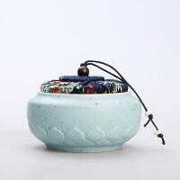 茶叶罐 家居密封陶瓷迷你储物罐2020新款便携古风文艺范旅行茶盒茶具