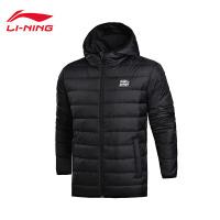 李宁短羽绒服男士运动时尚防风透湿保暖90%白鸭绒运动服AYMM077