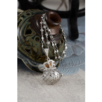 钱多多-精油瓶项炼(银)《含开光》财神小铺【DL-0005-2】以钱养财,以利生息
