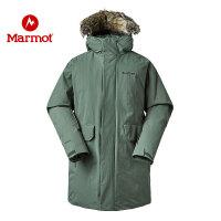 Marmot/土拨鼠男士厚重羽绒服中长款带帽鹅绒700蓬