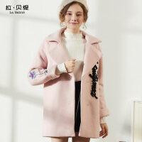 呢子大衣女2018秋冬季新款韩版学生原宿风中长款茧型风衣外套加厚