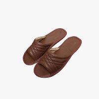 【任选3件4折,2件5折】当当优品 真皮羊皮拖鞋 羊皮全包脚底 舒适脚感 居家休闲皮拖 防滑保护地板皮拖鞋T1662