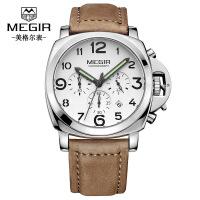 2018新款 美格尔手表 多功能运动防水皮带钢带男士手表