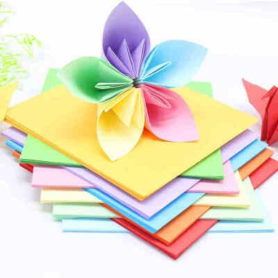 彩纸手工纸 A4彩色打印复印纸 正方形千纸鹤折纸材料