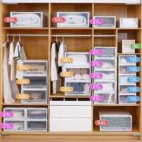 抽�鲜绞占{箱透明塑料家用�纫路�收�{盒衣柜盒子整理箱�ξ锵涔褡�