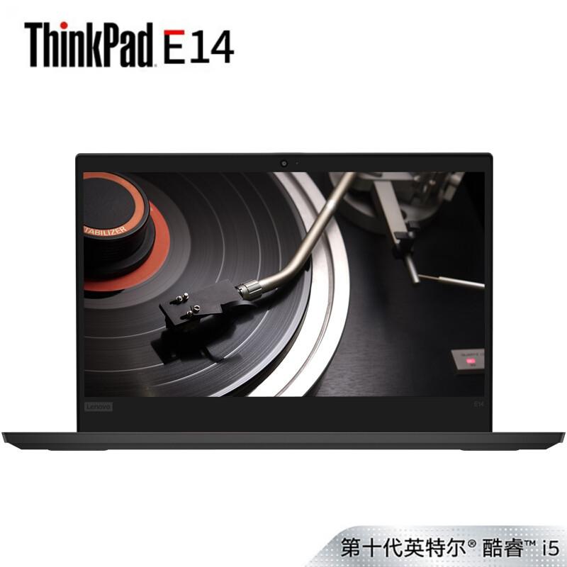 联想ThinkPad E14(04CD)14英寸商用轻薄笔记本电脑(i5-10210U 8G 512GSSD 集显 FHD Win10) 内存可升级,支持双硬盘,高效办公利器!